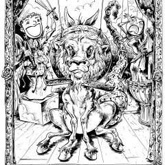 """Illustration from """"The Golden Ass"""" by M D Usher"""